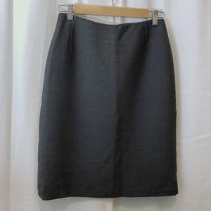 Philippe Adec charcoal gray career pencil skirt 6